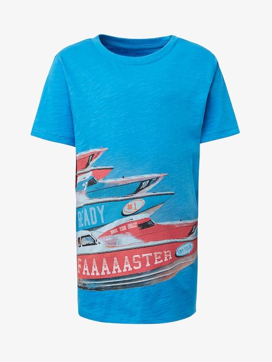 T-Shirt mit Print vorne - Jungen - brilliant blue|blue - 7 - TOM TAILOR