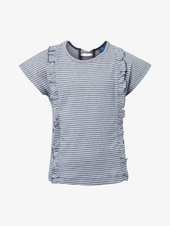 Gestreiftes Shirt mit Rüschen-Details - Mädchen - dress blue|blue - 7 - TOM TAILOR