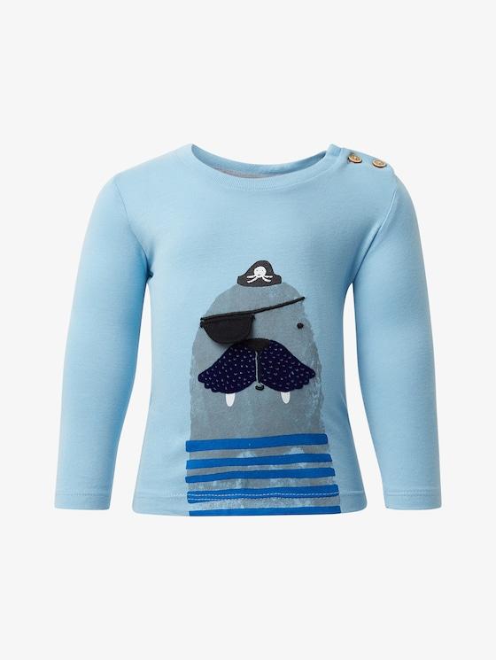 Langarmshirt mit Print - Babies - baltic sea|blue - 7 - TOM TAILOR