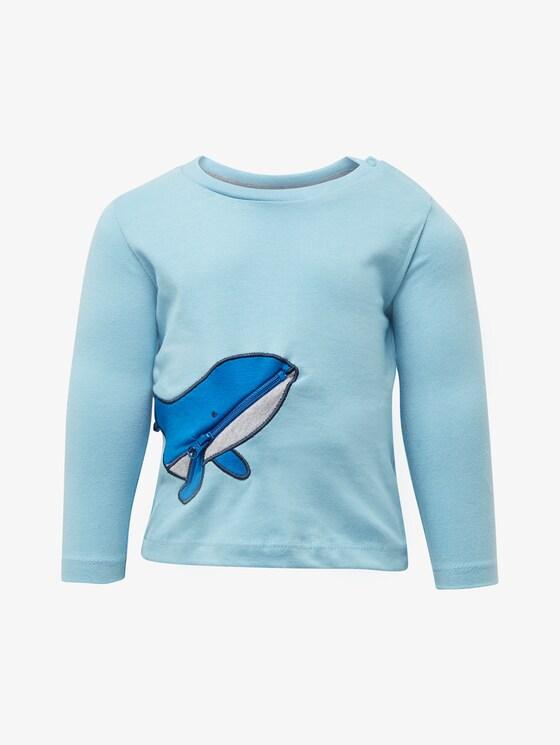 Langarmshirt mit Wal-Tasche - Babies - baltic sea|blue - 7 - TOM TAILOR