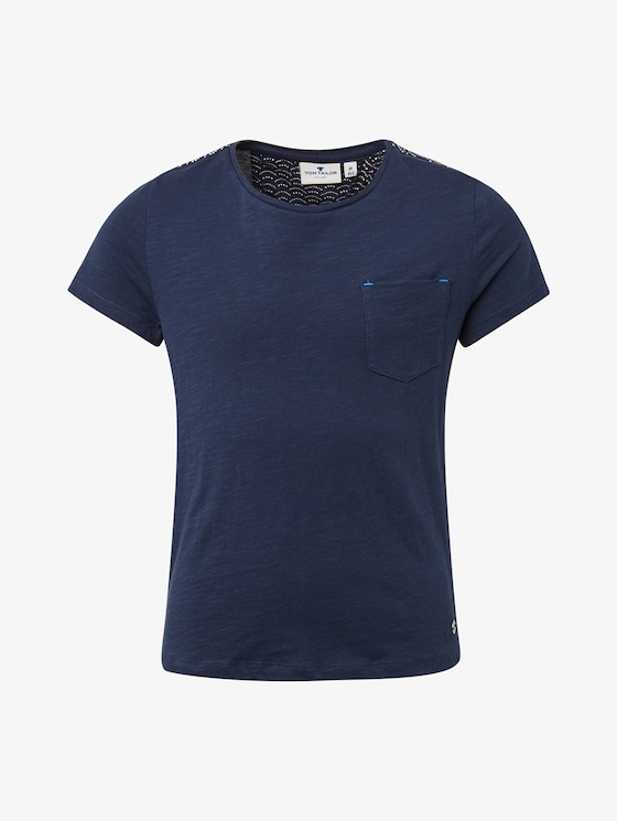 T-shirt with chest pocket - Girls - dress blue|blue - 7 - Tom Tailor E-Shop Kollektion