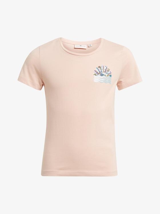 T-Shirt mit Print - Mädchen - peachy keen|rose - 7 - TOM TAILOR