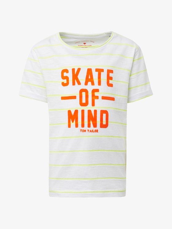 Gestreiftes T-Shirt mit Print - Jungen - original|original - 7 - TOM TAILOR