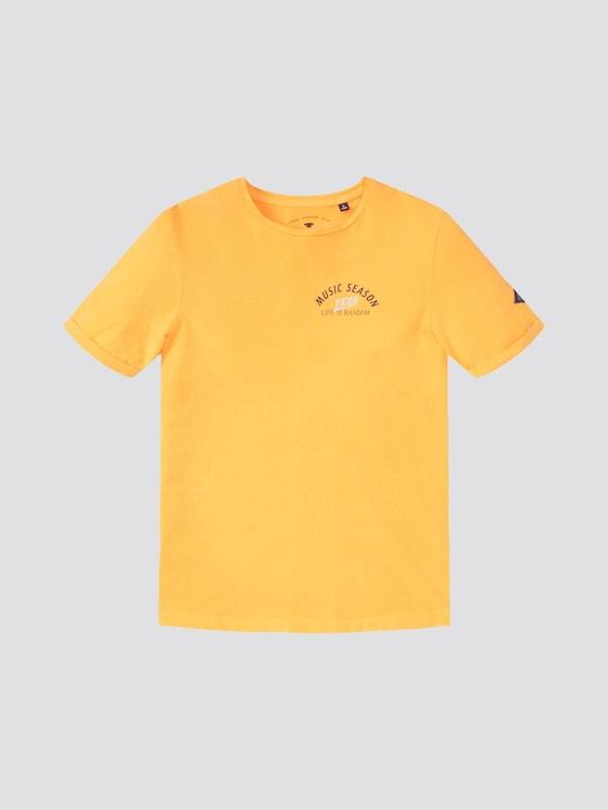 T-Shirt mit Print - Jungen - orange pop|orange - 7 - TOM TAILOR