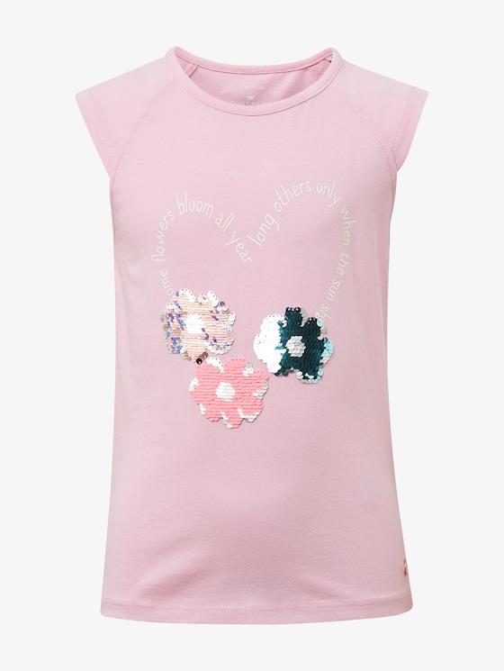 T-Shirt mit Artwork - Mädchen - lilac sachet rose - 7 - TOM TAILOR