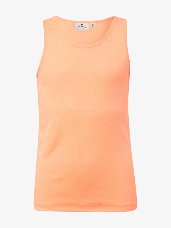 Schlichtes Top - Mädchen - fiery coral orange - 7 - TOM TAILOR