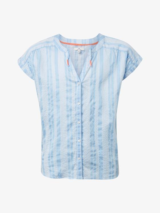 Gestreifte Bluse - Mädchen - y/d stripe vertical|multicolor - 7 - TOM TAILOR