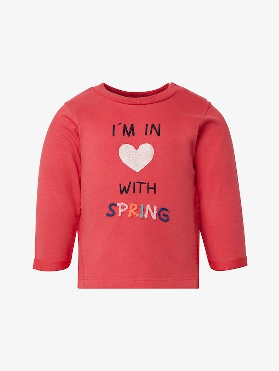 Sweatshirt mit Pom-Poms - Babies - geranium|red - 7 - TOM TAILOR