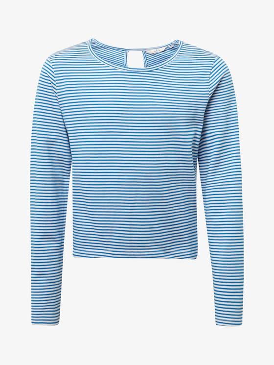Gestreept sweatshirt - Meisjes - victoria-blue - 7 - TOM TAILOR
