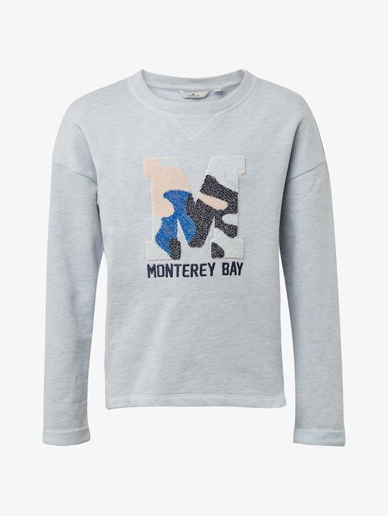 Sweatshirt mit Brust-Print - Mädchen - plein air|blue - 7 - TOM TAILOR