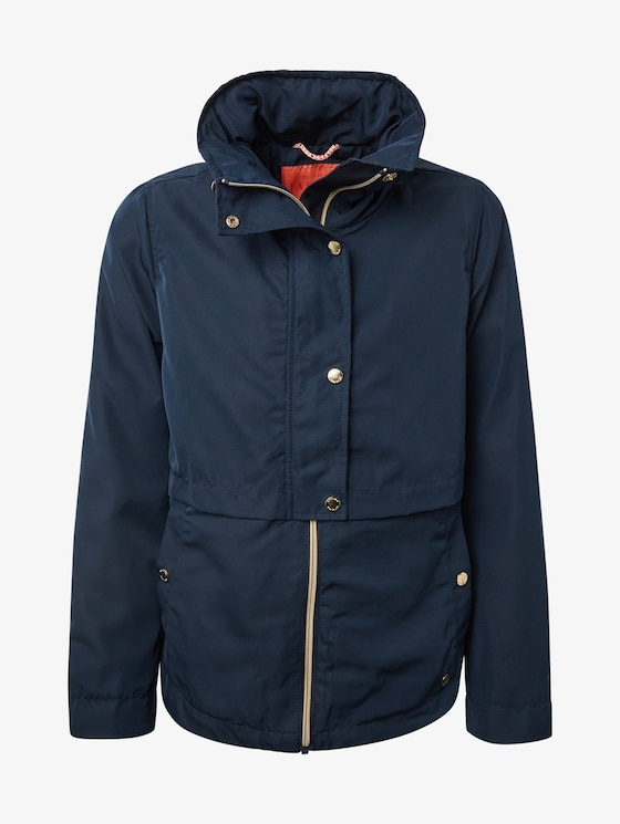 Jacket with hood - Girls - total eclipse|blue - 7 - TOM TAILOR