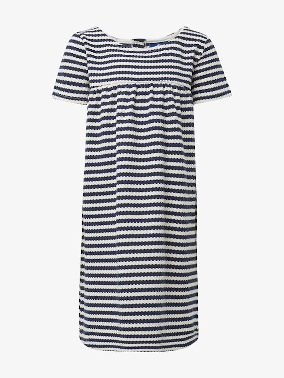 Striped dress - Girls - black iris|blue - 7 - TOM TAILOR