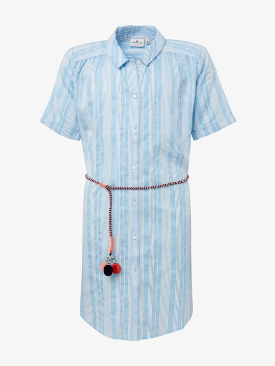 Striped shirt dress - Girls - y/d stripe vertical|multicolor - 7 - TOM TAILOR