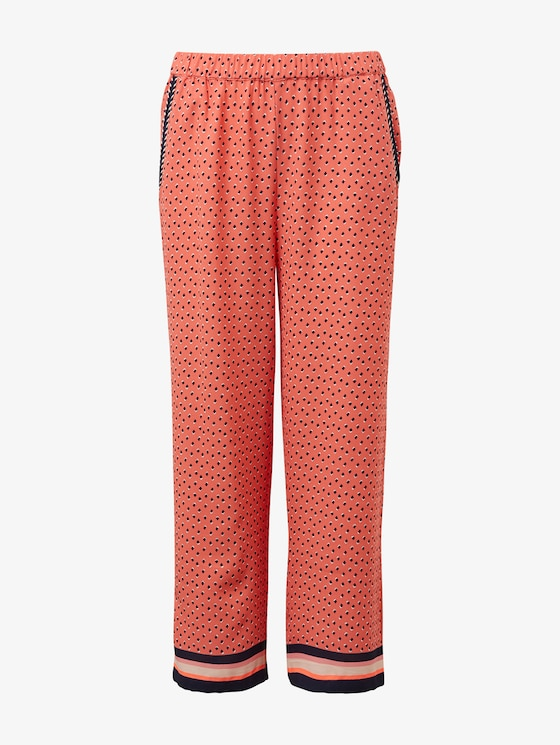 Patterned culottes - Girls - tawny port|red - 7 - TOM TAILOR