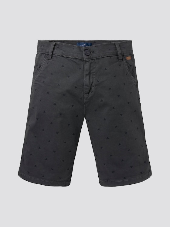 Gemusterte Bermuda-Shorts - Jungen - odyssey gray|gray - 7 - TOM TAILOR