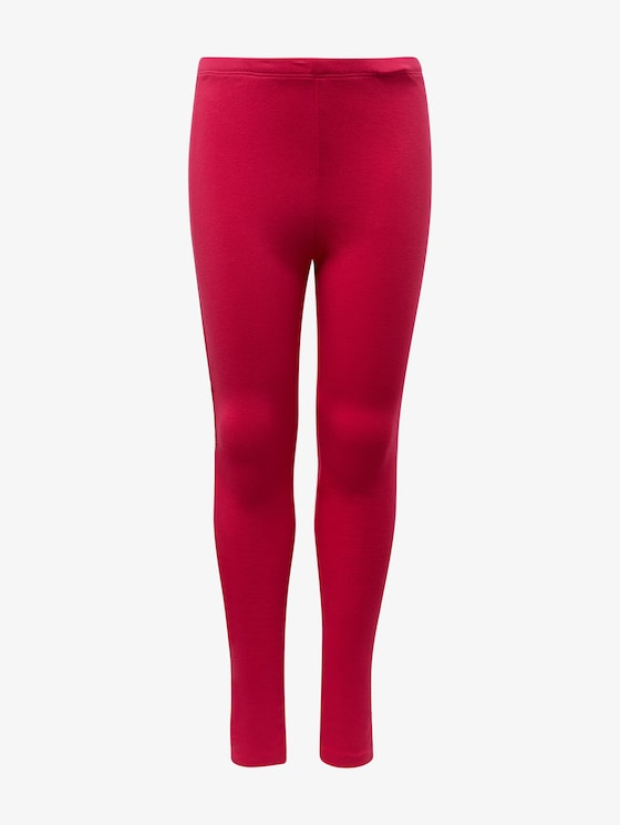 Leggings with sequin stripes - Girls - pink peacock|rose - 7 - TOM TAILOR