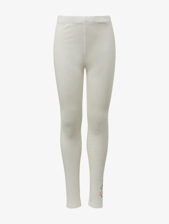 Leggings mit Print - Mädchen - cloud dancer|white - 7 - TOM TAILOR