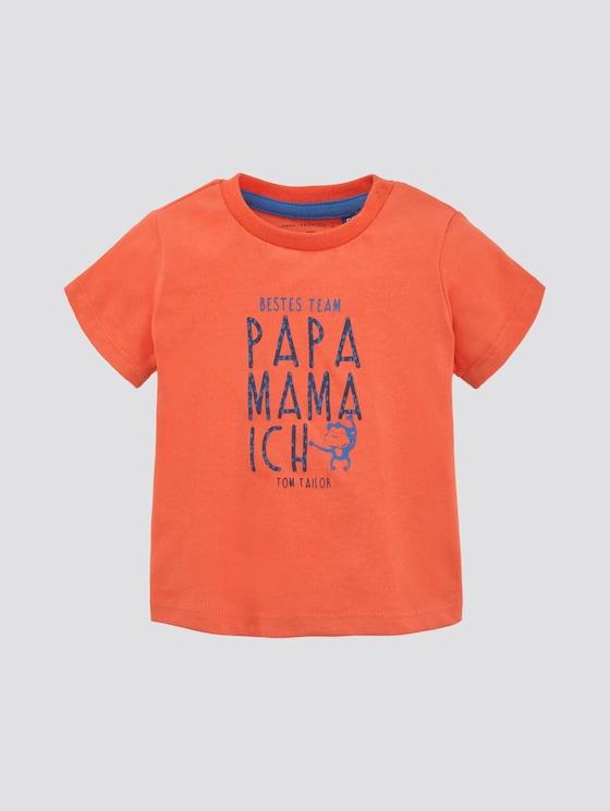 T-shirt met print - Babies - nasturtium|orange - 7 - TOM TAILOR
