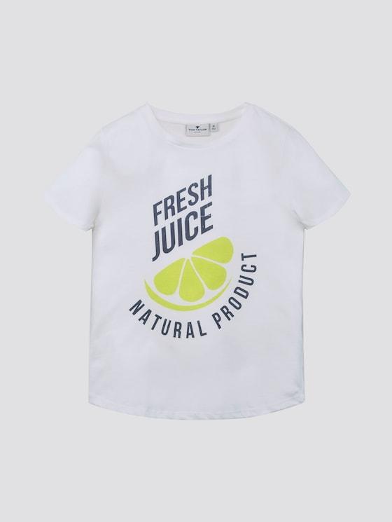 T-Shirt mit Print - Mädchen - cloud dancer|white - 7 - TOM TAILOR
