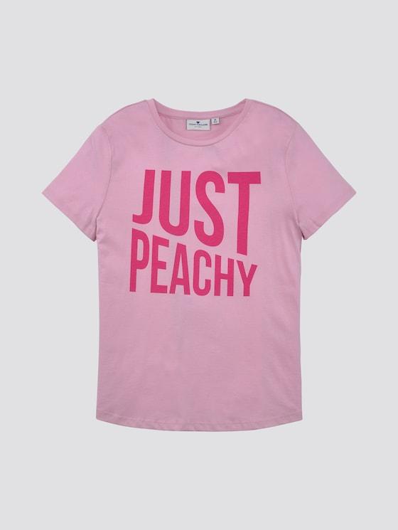 T-Shirt mit Print - Mädchen - sweet lilac|rose - 7 - TOM TAILOR