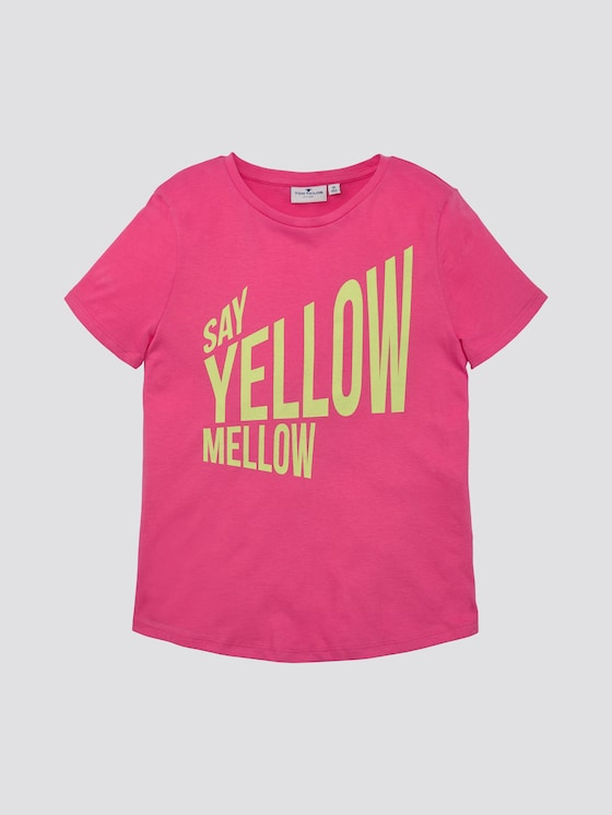 T-shirt with print - Girls - shocking pink|pink - 7 - TOM TAILOR