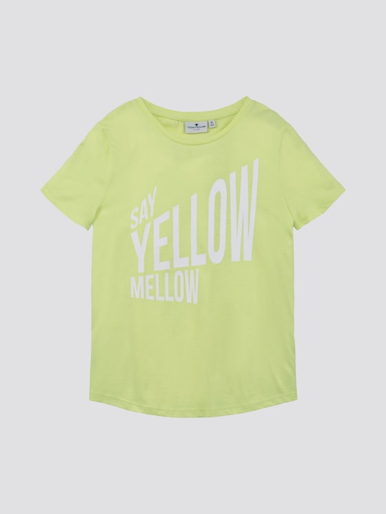 T-shirt met print - Meisjes - sunny lime|green - 7 - TOM TAILOR