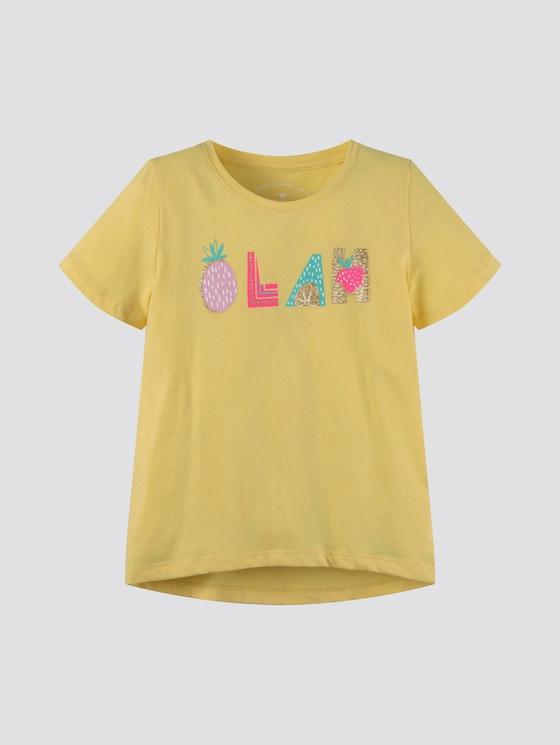 T-Shirt im Tropik-Look - Mädchen - sunshine|yellow - 7 - Tom Tailor E-Shop Kollektion