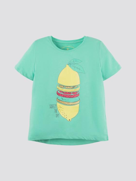 T-Shirt im Tropik-Look - Mädchen - beveled glass|green - 7 - Tom Tailor E-Shop Kollektion