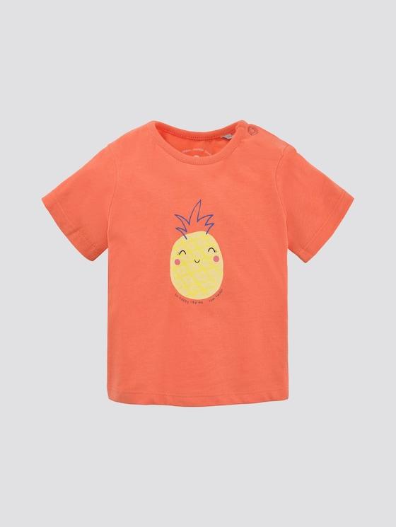 T-Shirt mit Print - Babies - peach echo|pink - 7 - TOM TAILOR