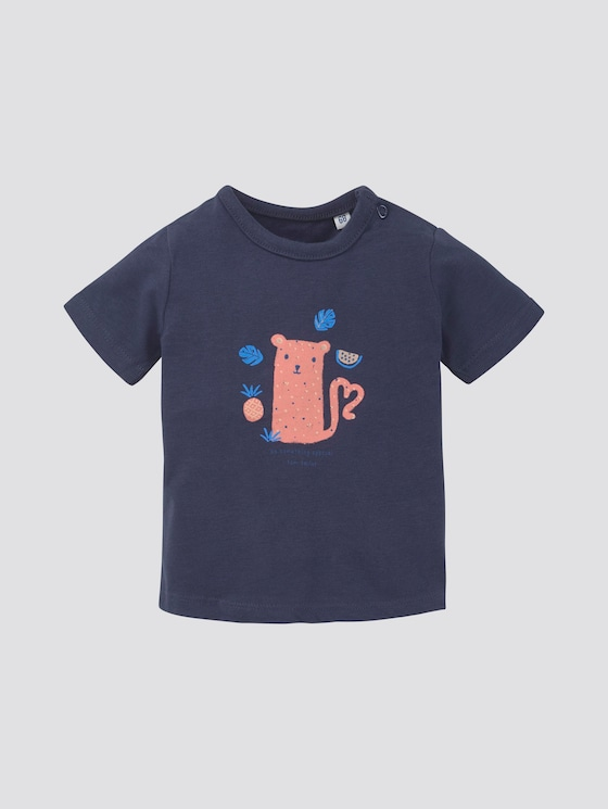 T-shirt with print - Babies - black iris|blue - 7 - TOM TAILOR