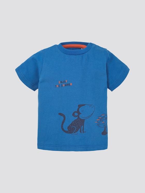 T-shirt with print - Babies - campanula|blue - 7 - TOM TAILOR