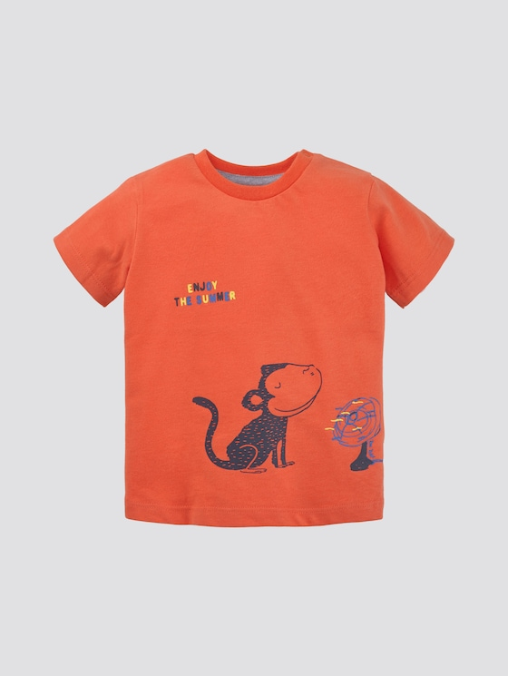 T-Shirt mit Print - Babies - nasturtium|orange - 7 - TOM TAILOR