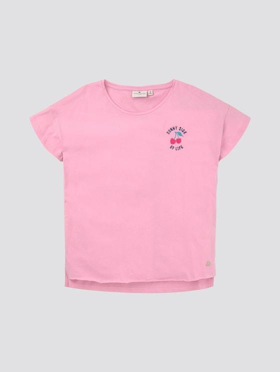 T-shirt met subtiele print op de borst - Meisjes - sweet lilac|rose - 7 - Tom Tailor E-Shop Kollektion