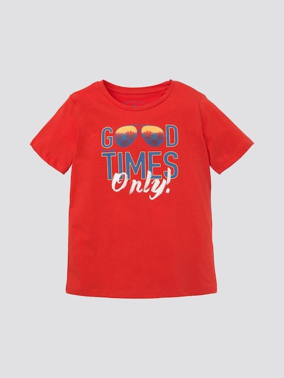 T-Shirt mit großflächigem Print - Jungen - poppy red|red - 7 - Tom Tailor E-Shop Kollektion