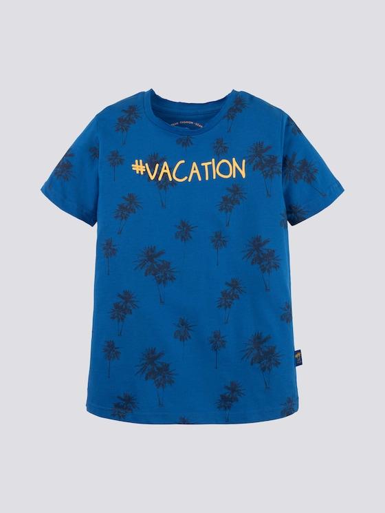 T-Shirt mit großflächigem Print - Jungen - victoria blue|blue - 7 - Tom Tailor E-Shop Kollektion