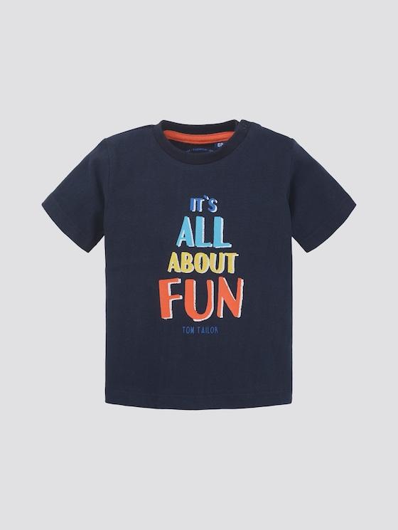 T-shirt with print - Babies - navy blazer blue - 7 - TOM TAILOR