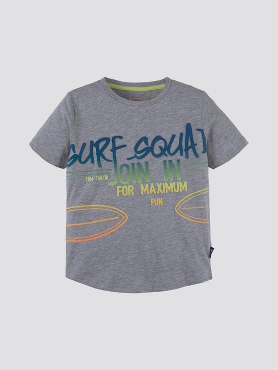 T-Shirt mit großflächigem Print - Jungen - drizzle melange gray - 7 - Tom Tailor E-Shop Kollektion