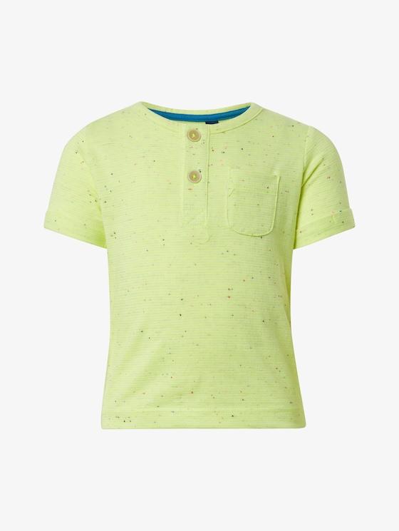 Neon Henley T-Shirt - Babies - y/d stripe|multicolored - 7 - TOM TAILOR