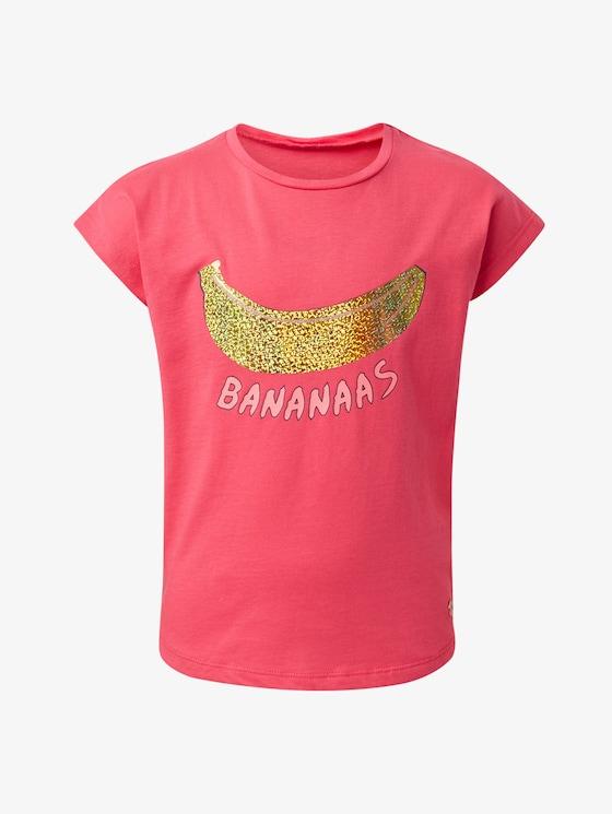 T-Shirt mit Glitzermotiv - Mädchen - raspberry sorbet|pink - 7 - TOM TAILOR