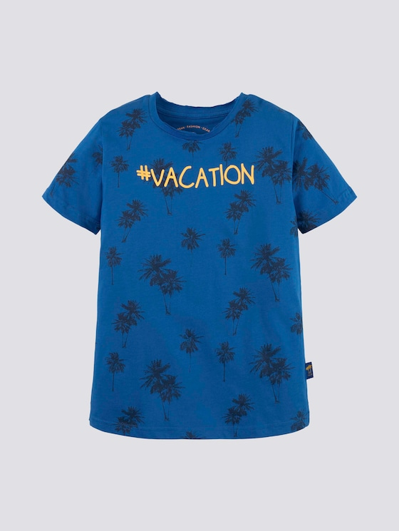 T-Shirt mit Palmen-Print - Jungen - victoria blue|blue - 7 - Tom Tailor E-Shop Kollektion