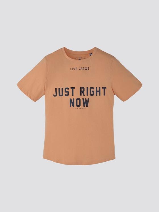 T-shirt met print - Jongens - peach|orange - 7 - TOM TAILOR