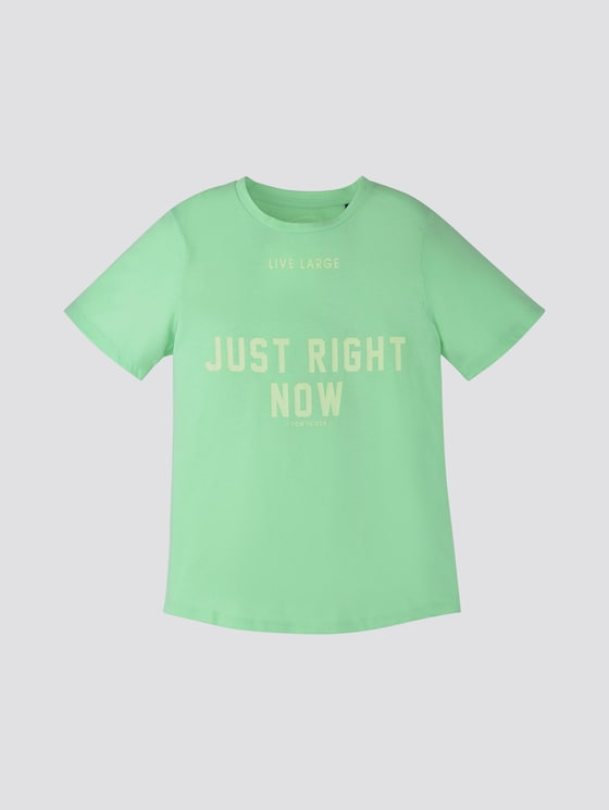 T-Shirt mit Print - Jungen - washed out neon green|green - 7 - TOM TAILOR