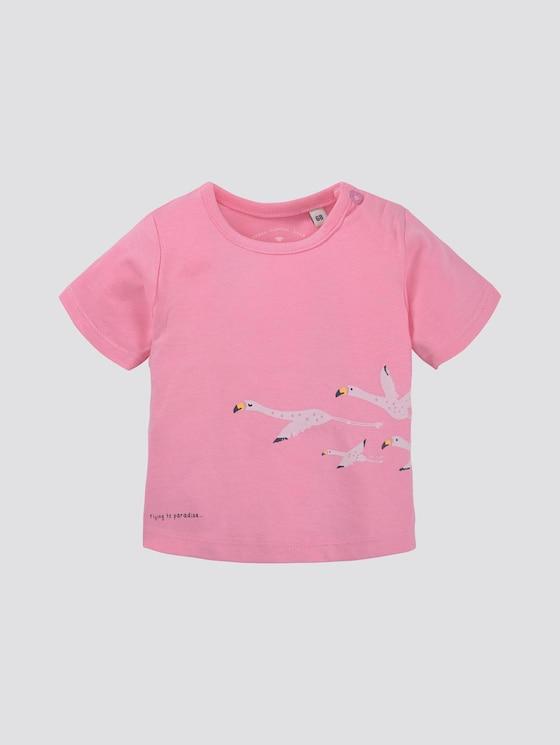 T-shirt met print - Babies - sachet pink|rose - 7 - TOM TAILOR