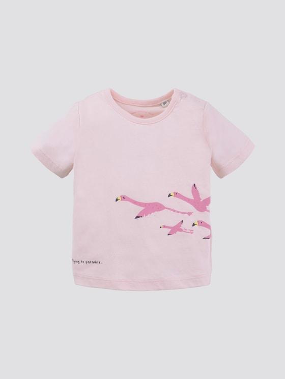T-shirt with print - Babies - ballet slipper|rose - 7 - TOM TAILOR
