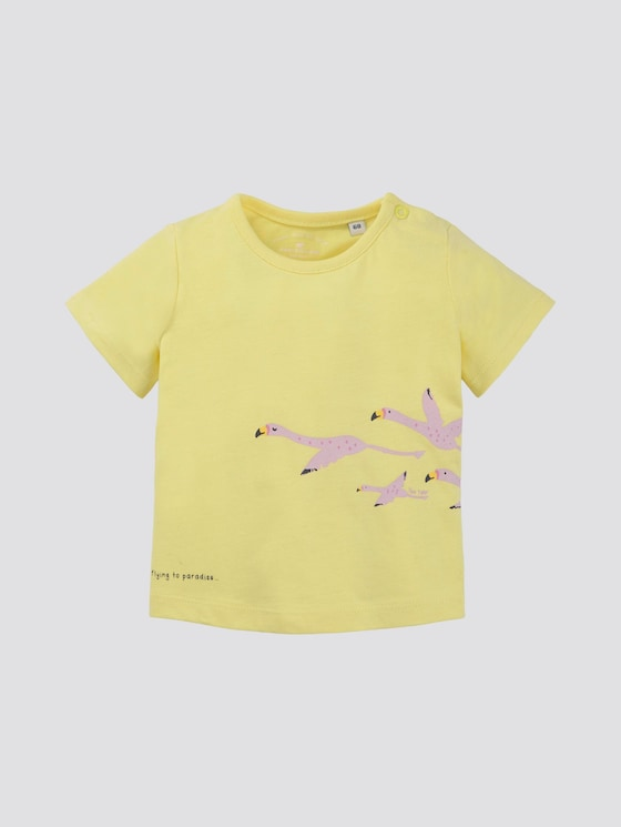 T-Shirt mit Print - Babies - lemon verbenal|yellow - 7 - TOM TAILOR