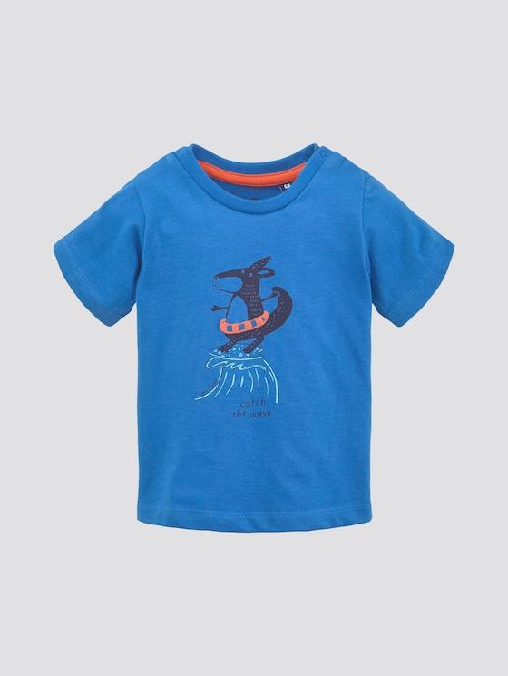 T-Shirt mit Print - Babies - campanula blue - 7 - TOM TAILOR