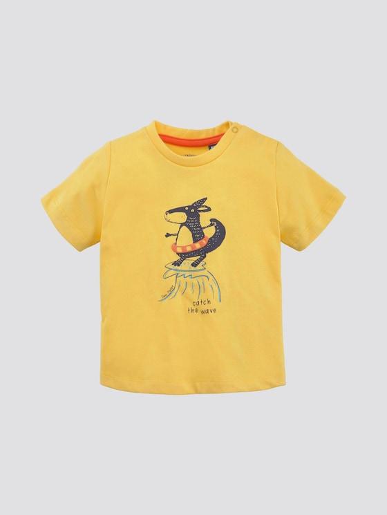T-Shirt mit Print - Babies - mimosa|yellow - 7 - TOM TAILOR