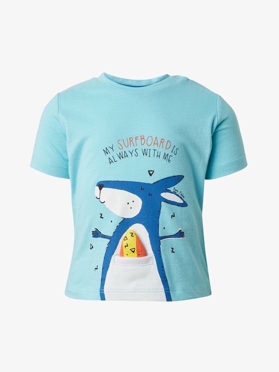 T-shirt with print - Babies - tanager turqoise|cyan - 7 - TOM TAILOR