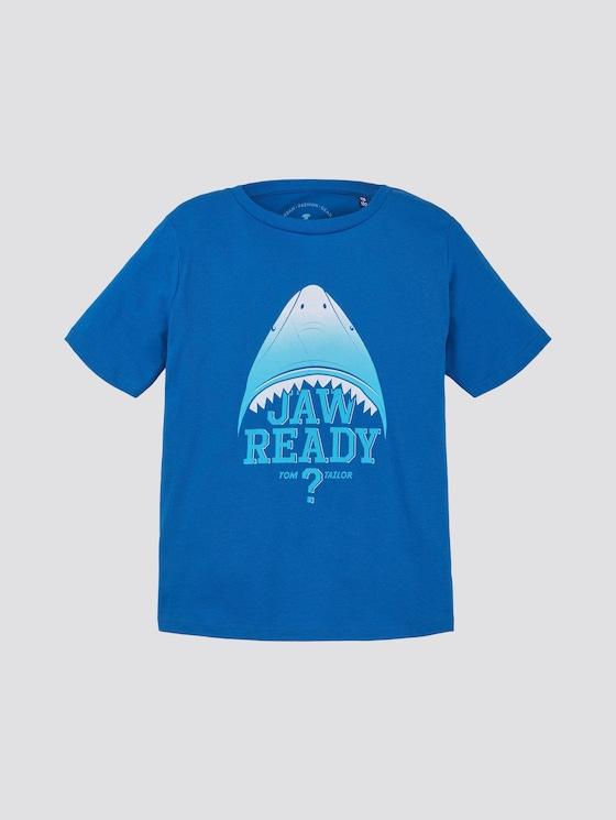 T-shirt met print - Jongens - victoria blue|blue - 7 - TOM TAILOR