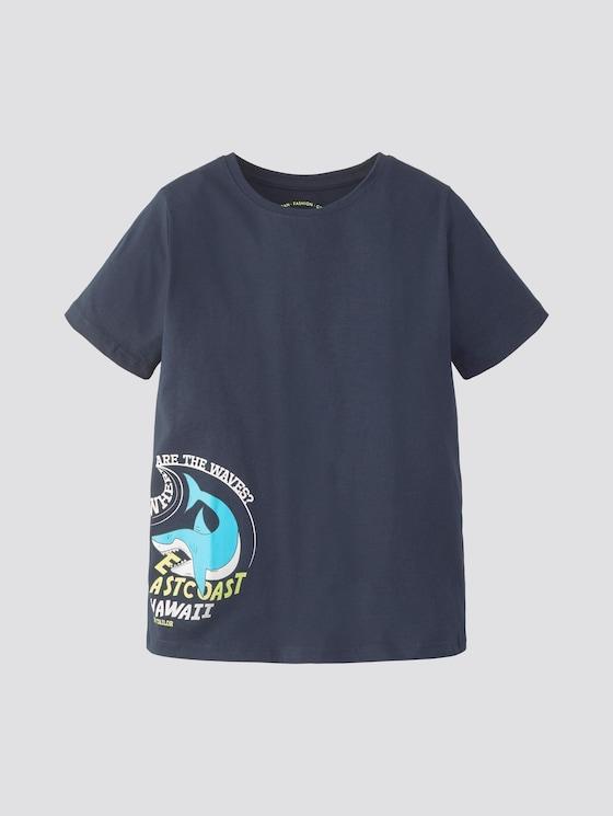 T-Shirt mit Print - Jungen - dress blue|blue - 7 - TOM TAILOR